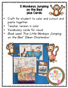 5 Monkeys Jumping on the Bed Craft and Cards