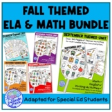 5 Monthly Themed Units for Fall Semester in Autism Units or Early Elem