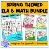 Bundle 5 Monthly Themed Units for Spring in ELA, Writing and Math for SpEd