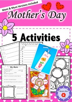 5 Mother's Day Activities (Mom/Mum versions)