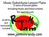 5 Music Substitute Lesson Plans (Bundle)