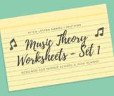 5 Music Theory Worksheets - Set 1