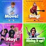 5 Music Therapy Action CDs re: Language Development in Motion. Hear Here!!
