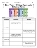 5.NBT.1, 4.NBT.2 Place Value - Writing Numbers in Different Forms