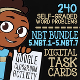 5.NBT.1-5.NBT.7 Self-Graded Google Classroom Math Activities | 5th Grade Bundle