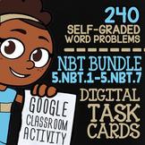 5.NBT.1-5.NBT.7 | 5th Grade Math Review Digital Task Cards for Google Classroom™