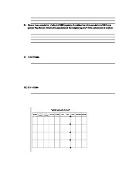 5.NBT.1 5th GRADE MATH TEST BY STANDARD