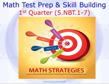 "5.NBT.1-7 ""MATH STRATEGIES"" DIGITAL TASK CARDS FOR 1ST QUARTER"