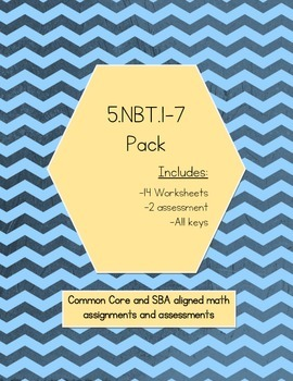 5.NBT.1-7 Pack (Combo of Bundle NBT.1-4 and NBT.5-7) - BEST DEAL