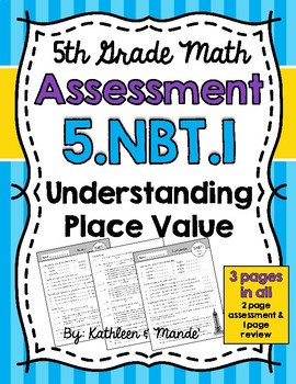 5.NBT.1 Assessment: Understanding Place Value