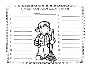 5.NBT.1 Autumn Seat Scoot Class Activity-Place Value & Multi Digit Whole Numbers