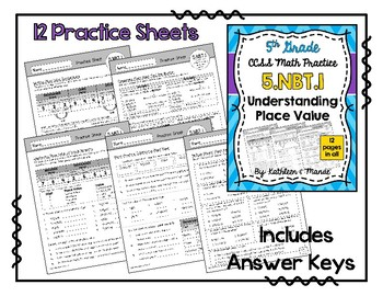 5.NBT.1 BUNDLE: Understanding Place Value