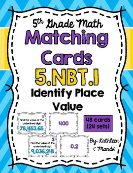 5.NBT.1 Matching Cards: Identify Place Value