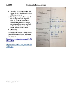 5.NBT.1 Math Cornell Notes: Write Decimals in Expanded Form