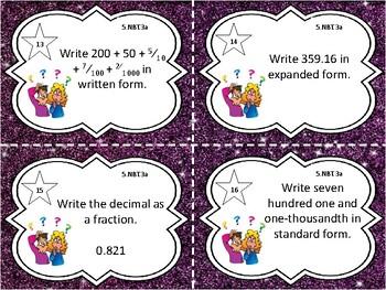 5.NBT.3a Math Task Cards