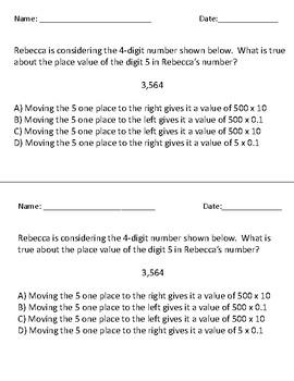 5.NBT.1 - Place Value Activity & Exit Ticket