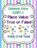 5.NBT.1 - Place Value Activity & Exit Ticket