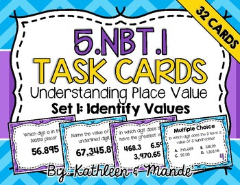 5.NBT.1 Task Cards {Set 1}: Identify Place Value