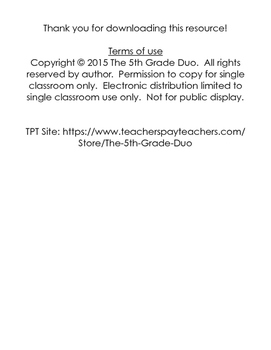 5th grade 5.NBT.1 weekly math review freebie!