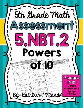 5.NBT.2 Assessment: Powers of 10