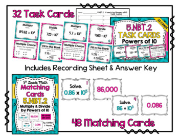 5.NBT.2 BUNDLE: Multiply & Divide by Powers of 10