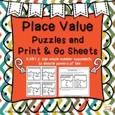 5.NBT.2 EXPONENT PLACE VALUE PUZZLES AND PRINT & GO SHEETS