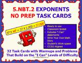 5.NBT.2 Math 5TH Grade Task Cards NO PREP—POWER OF TEN PRINTABLES