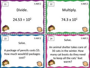 5.NBT.2 Math Task Cards