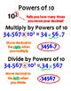 5.NBT.2 (Powers of 10) Anchor Chart