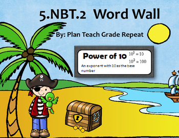 5.NBT.2 (Powers of 10) Word Wall