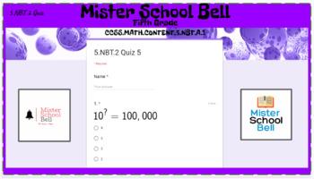 5.NBT.2 Quiz 5 With Exponents