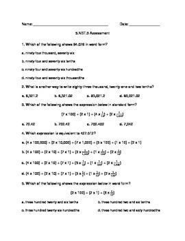 5.NBT.3 Assessment