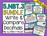 5.NBT.3 BUNDLE: Read, Write, & Compare Decimals