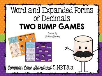 5.NBT.3 Forms of Decimals BUMP Games