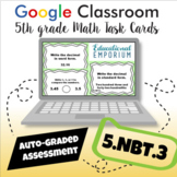 ⭐ AUTOMATICALLY GRADED ⭐ 5.NBT.3 Task Cards: Read, Write, and Compare Decimals