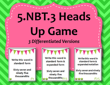 5.NBT.3 Heads Up Style Game