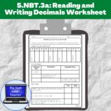 5.NBT.3a-Reading and Writing Decimals Worksheet