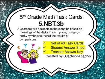 5.NBT.3b Math Task Cards