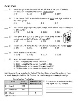 5.NBT.4 Assessment: Rounding Decimals