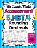 5.NBT.4 Assessment: Rounding Decimals