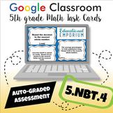 ⭐ SELF-GRADING ⭐ 5.NBT.4 Task Cards for Google Classroom™: Rounding Decimals