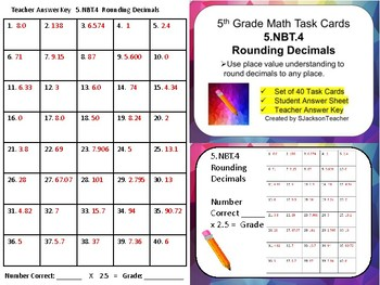 5.NBT.4 Math Task Cards