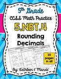 5.NBT.4 Practice Sheets: Rounding Decimals