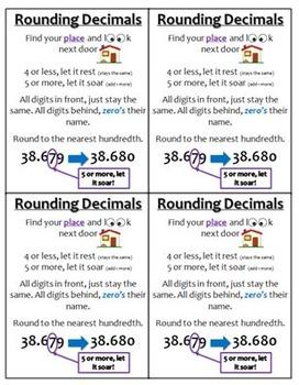 5.NBT.4 (Rounding Decimals) Anchor Chart