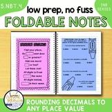 5NBT4 Rounding Decimals (Interactive Notebook Series)