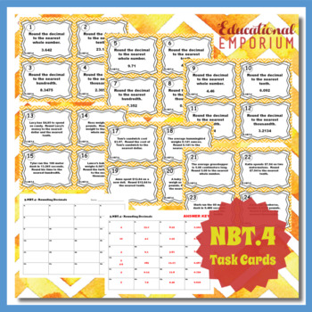 5.NBT.4 Task Cards 5.NBT.4: Rounding Decimals Task Cards for Rounding Decimals