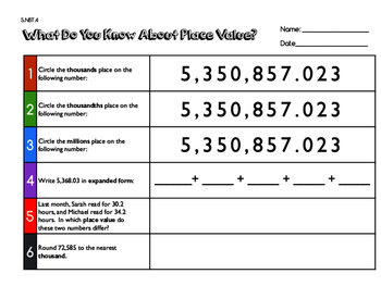 5.NBT.4:  What Do You Know about Place Value?