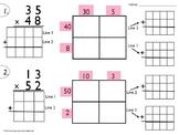 5.NBT.5 Four Square Open Array Multiplication