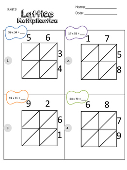 5.NBT.5 Lattice Multiplication CFA TEST