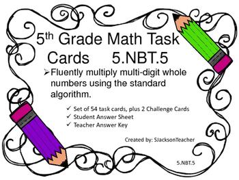 5.NBT.5 Math Task Cards